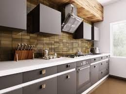 cuisine avec gaziniere intérieur de la cuisine moderne avec gazinière rendu 3d banque d