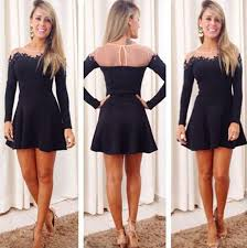 Black Homecoming Dresses With Sleeves White 2016 Short Prom Dresses Modest Graduation Homecoming Dresses