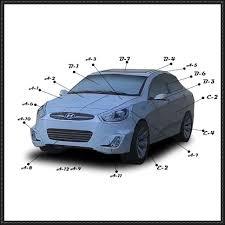 hyundai accent model accent paper car free paper model