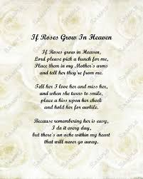 memorial poems for memorial poem for roses in heaven by queenofheartgifts