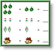 free christmas theme picture math worksheets kids picture
