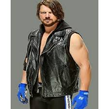 aj styles vest with hoodie for sale l leather jacket for sale