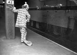 clowns ny 1958 after missing the rockaway express as it left times square