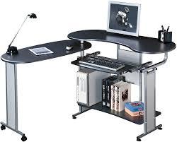 piranha pc3g folding black computer desk with sliding keyboard