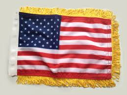 Car Flag Country Diplomat Flag With Gold Fringe Flagsoncars Com