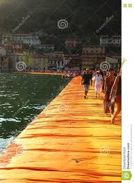 Floating Piers by The Floating Piers Iseo Lake Italy Editorial Photo Image 73692016