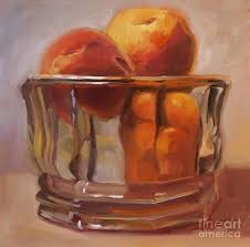 peaches print wall art room decor painting by patti trostle