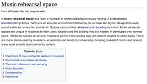 music rehearsal space wikipedia entry bandspace