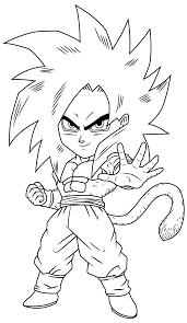 dbz goku ssj4 coloring pages coloring home