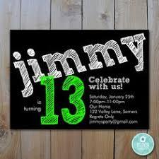 teen boy u0027s birthday invitation let u0027s party by fancyshmancynotes