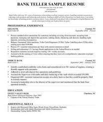 Resume Skills Team Player Resume Skills For Bank Teller Teller Resume Bank Teller Resume