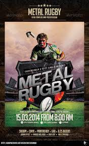 metal rugby flyer template by chiccosinalo graphicriver