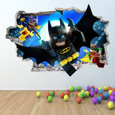 lego superhero dc marvel spiderman batman superman wall lego batman wall sticker 3d look boys girls bedroom wall art decal z418