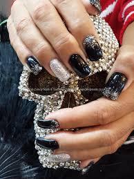 23 wonderful black glitter acrylic nails u2013 slybury com