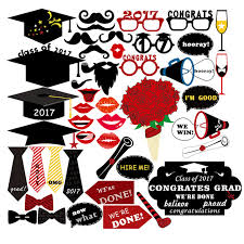 graduation party supplies 46pcs set creative graduation party photo booth props 2017