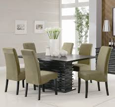 Mirrored Dining Room Table Gray Leather Dining Room Chairs
