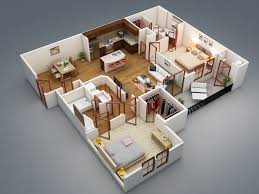 Home Plans With Interior Photos 50 Two 2 Bedroom Apartment House Plans 3ds Max 3d And