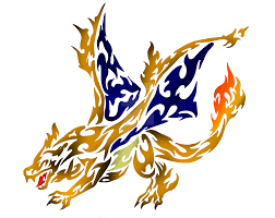 tribal flaming charizard by dansudragon on deviantart