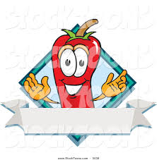 cartoon sombrero chili pepper cartoon character