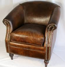 Leather Tufted Chairs Furniture Bassett Chairs Leather Club Chair Oversized Tufted