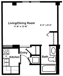 Efficiency Apartment Floor Plans Download One Room Efficiency Apartment Plans Home Intercine