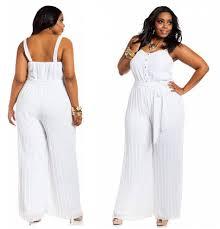 white jumpsuits plus size white jumpsuits for plus size choozone fashion