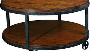 coffee tables round wood and metal coffee table acceptable round