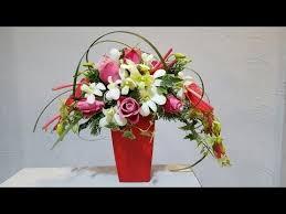 Floral Arrangement Crescent Flower Arrangement Youtube