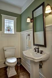 Wainscoting Bathroom Ideas Colors Renovated Craftsman In Bellevue Wa 9 White Paneling Turquoise