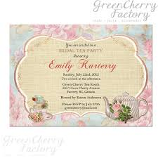 bridal tea party invitation invitation cards for kitchen party awesome floral tea party