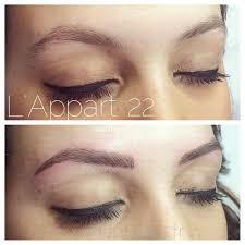 tatouage sourcils poil par poil maquillage permanent sourcils l u0027appart 22 atelier beauté nice