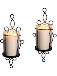 Flameless Candle Wall Sconce Set 2 Shop Amazon Com Candle Sconces