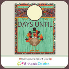 thanksgiving countdown printable frame it and then use a