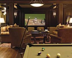 Pool Table In Living Room Chairs Country Fashioned Room Model Home Theater Designs With