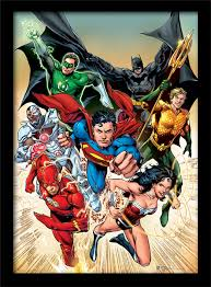 Justice League Dc Comics Justice League Heroic Framed Poster Buy At Europosters