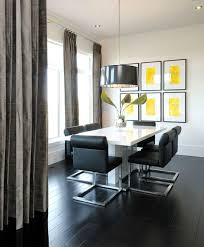 high rise kitchen table black white and yellow high rise dining room high rise client