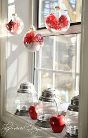 Christmas Window Decorations by Step In For Some Christmas Cheer Slipcovered Grey