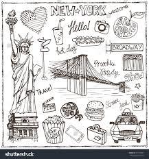 Colorado travel symbols images New york doodle setamericanusa travel symbolshand stock vector jpg
