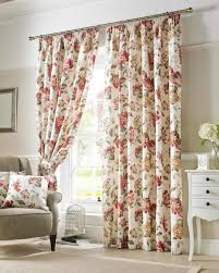 Floral Curtains Wilde Carnaby Chintz Floral Curtains Lined