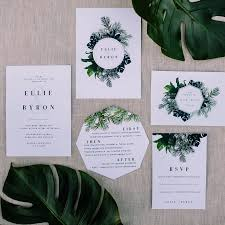 wedding invitations queensland modern jungle inspired wedding stationery greenery creative