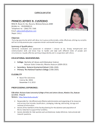 example of cv resume