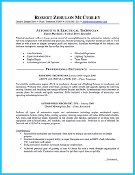 Sample Resume Objectives For Mechanics by Resume Auto Mechanic Sample Resumes Template Maintenance Mechanic