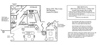 frasier crane apartment floor plan the floor plans blue prints of the montana sitcoms online