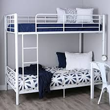 White Metal Bunk Bed Walker Edison Metal Bunk Bed White