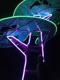 solar tree sculpture lights up the with leds in minnesota