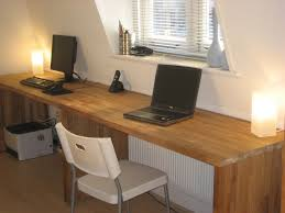 big oak desk from kitchen worktops 6 steps