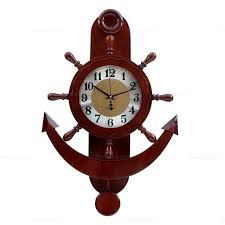 wooden anchor wall new arrival clock large anchor rudder style wall clock