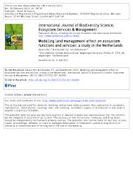am agement petit bureau modelling land management effect on ecosystem functions and