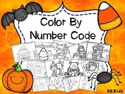 color number code fall halloween turkey bb kidz tpt