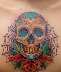dia de los muertos skull teeth design with